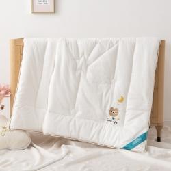 (總)御棉坊A類60貢緞繡花兒童被芯幼兒園被子冬被晚安熊-白