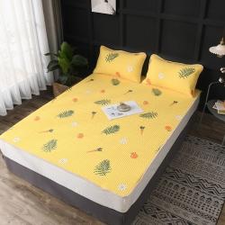 全棉可水洗天然乳胶薄床垫三件套床护垫夹棉床垫套