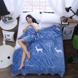 賦雅家紡 雙面絨毯子超柔加厚云貂絨毛毯法萊絨毛毯 床單蓋毯