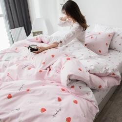 (總)宅部落 2019新款全棉四件套小清新純棉被套床單款