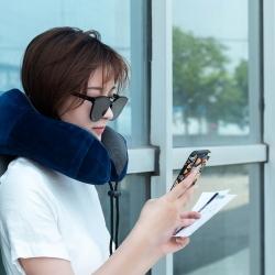 大集 2019新款磁布水晶绒U型枕含精美包装 蓝色