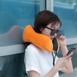 大集 2019新款磁布水晶绒U型枕含精美包装 橘色