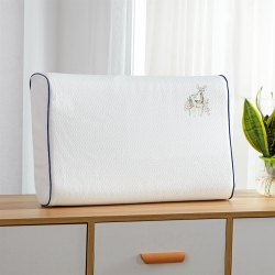 双鹿A级天然乳胶枕乳胶枕头枕芯颗粒按摩乳胶枕芯保健枕护颈枕