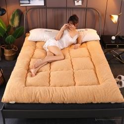 麥億彩 2019新款10cm羊羔絨床墊 駝色
