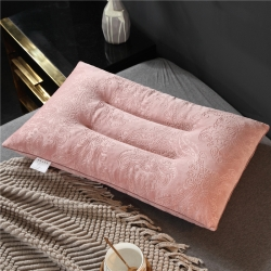 亲肤乳胶枕 碎乳胶颗粒枕头 绒款乳胶枕