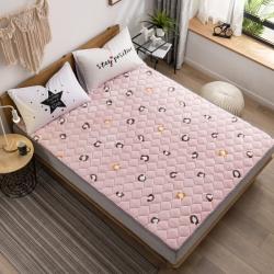 2019牛奶絨床墊 防滑床褥 可機洗床護墊加厚法萊絨保暖褥子