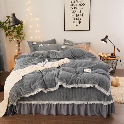 (总)新款柔软法莱绒水晶绒牛奶绒针织绒系列四件套床单床笠款