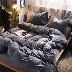 (总)平头哥家纺 全棉色织水洗棉全棉四件套床单款