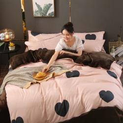 總維猛2019款棉加絨法萊絨水晶絨四件套床單款+床笠款