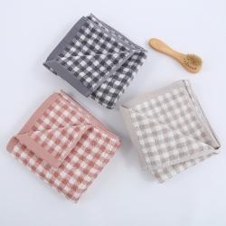 (總)良品匯館 日式無印良品風格格紋毛巾格子全棉毛巾