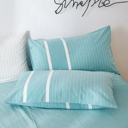 (总)平头哥家纺 全棉色织水洗棉枕套 单品枕套