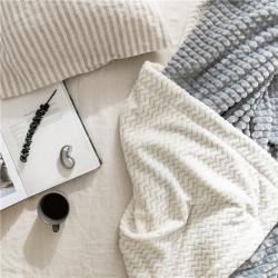(總)法芙娜 2019秋冬加厚菠蘿毯 法蘭絨毛毯 雙層毯子