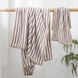(总)良品汇馆 日式无印良品风格条纹毛巾条子全棉毛巾