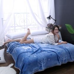 赋雅 加厚云貂绒毛毯 双面绒休闲毯 法莱绒毛毯 枕套床单盖毯
