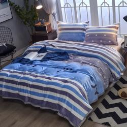 加厚 云貂绒毛毯 双面绒床单 法莱绒毛毯 可配枕套 珊瑚绒毯