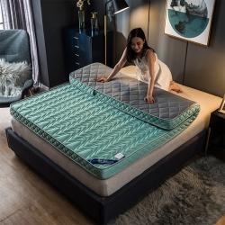 优眠坊 2019新款针织棉波浪立体床垫 绿色