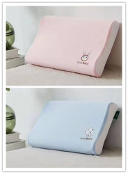纯棉透气高密纱网男女款儿童天然乳胶枕乳胶枕头枕芯