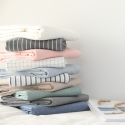 (總)MR.PIG水洗棉床單單件純色純棉學生宿舍單人全棉被單