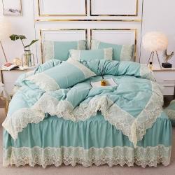 樂朵2019新品 麗莎 水洗棉 床裙四件套