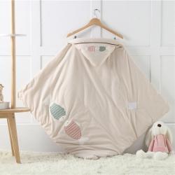 (總)心卓嬰童館 2019新款秋冬嬰幼兒彩棉抱被 全棉包被