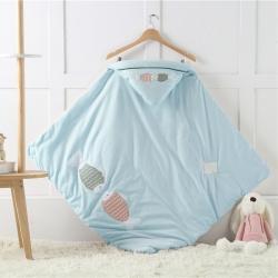 2019新款秋冬全棉嬰幼兒抱被 彩棉包被寶寶針織棉小被子