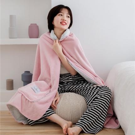 雪兔绒毯子女生披肩毯秋冬学生家居服毯兔兔绒盖毯单人午睡空调毯