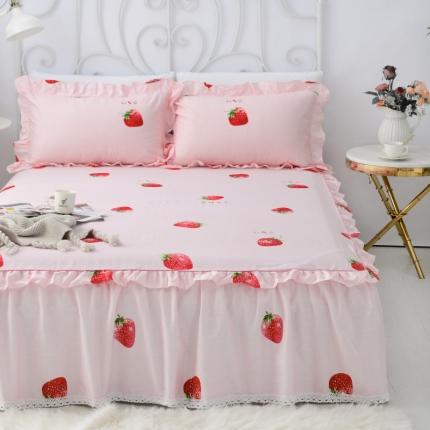 (总)爱妮玖玖 单品床罩类5-2:全棉暖冬系列小蕾丝单层床裙