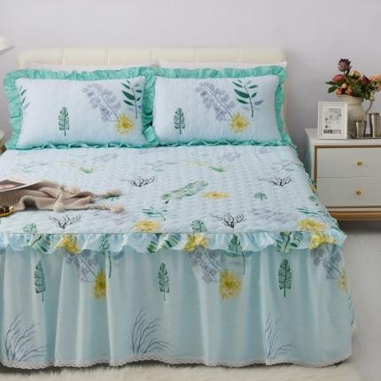 (总)爱妮玖玖 单品床罩类5-3:全棉暖冬系列小蕾丝夹棉床裙