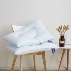 新款枕芯 心心相印羽丝定型枕头 蓝色