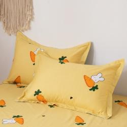 橡果家紡 128*68全棉高密度枕套純棉枕芯套一對裝