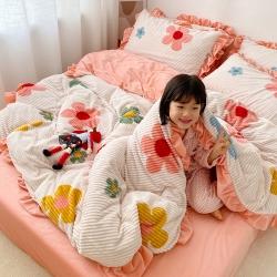 (总)首尔魔法绒印花四件套韩版法莱绒宝宝绒四件套