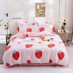 思鉑睿 2019新款12868全棉床單四件套 陽光草莓