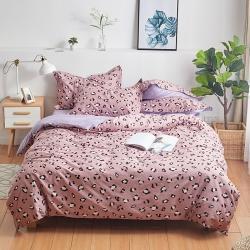 思铂睿 2019新款12868全棉床单四件套 紫薇