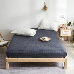 (总)MRPIG?#21487;?#20840;棉水洗棉床?#19994;?#20214;纯棉素色床罩床垫保护套