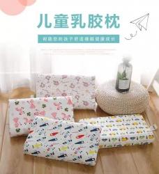 翔博家纺    2019年新款儿童乳胶枕  【含内外套】