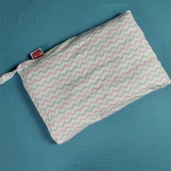 一铭家 儿童棉花枕金银花抑菌枕婴儿枕芯 波浪粉