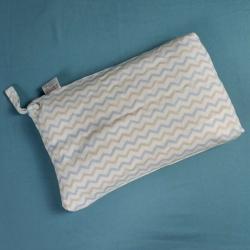一銘家 兒童棉花枕金銀花抑菌枕嬰兒枕芯 波浪藍