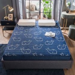 法萊絨立體印花床墊5D透氣底部加厚保暖1.8米雙人加大