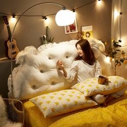 靠垫直供ins床头靠垫皇冠靠背双人卧室网红靠枕公主风韩式拆洗