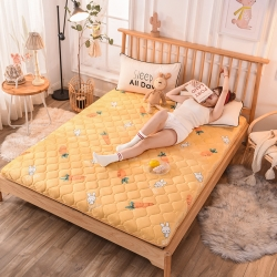 寐珂家紡新款法萊絨床墊寶寶絨床墊牛奶絨床墊
