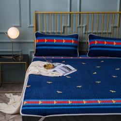冬用天然乳胶床垫三件套保暖绗缝床盖床单加绒薄款乳胶床垫