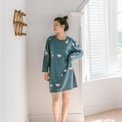 小春日和 2019針織棉睡衣第一季 加油鴨睡裙