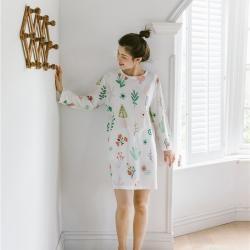 小春日和 2019針織棉睡衣第一季 雅白睡裙