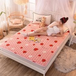 寐珂家紡法萊絨床墊加厚防滑席夢思保護墊可水洗薄床褥子榻榻米墊
