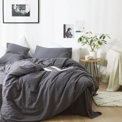 (總)北歐良品2019水洗棉四件套色織全棉無印良品四件套