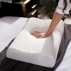 睡趣 天然乳膠枕頭按摩顆粒枕曲線波浪枕芯狼牙乳膠枕A品