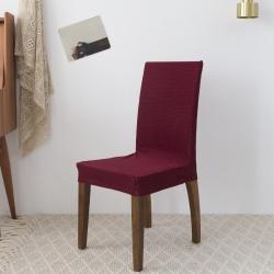 神仙梦 2019新款玉米绒椅子套 酒红