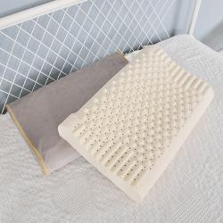 翔博家紡 2019泰國乳膠枕純天然乳膠枕頭按摩透氣護頸枕芯