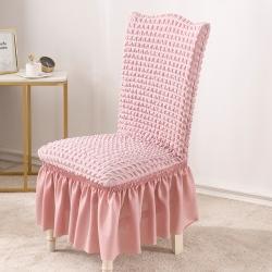 2020款泡泡布格裙摆款椅套弹力连体沙发套 跨境外贸专供