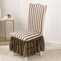 2020款泡泡布格裙擺款椅套彈力連體椅子套 跨境外貿專供